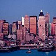 New York Skyline At Dusk Art Print