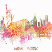 New York Skyline City Art Print