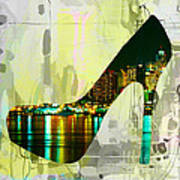 New York Skyline In A Shoe Art Print