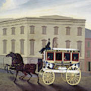 New York Stagecoach Art Print