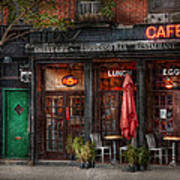 New York - Store - Greenwich Village - Sweet Life Cafe Art Print