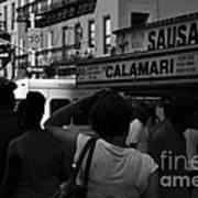 New York Street Fair - Black And White Art Print
