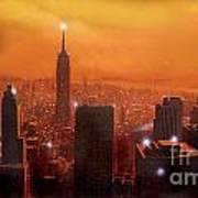 New York Sunset Art Print by Steve Crisp