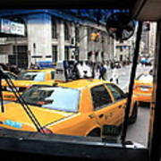 New York Taxi Cabs Art Print