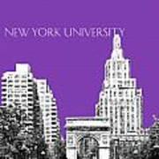 New York University - Washington Square Park - Purple Art Print