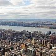 New York View Towards Jersey Art Print