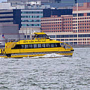 New York Water Taxi Art Print