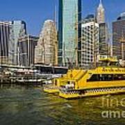 New York Water Taxi Art Print