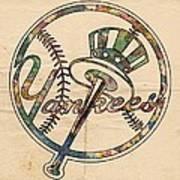 New York Yankees Poster Vintage Art Print