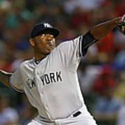 New York Yankees V Texas Rangers Art Print