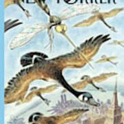 New Yorker April 17th, 2000 Art Print by Peter de Seve