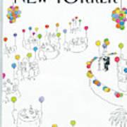 New Yorker January 2nd, 1984 Art Print