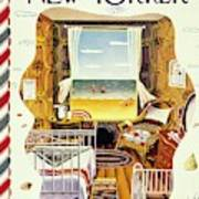 New Yorker Magazine Cover Of A Bedroom By The Sea Art Print