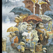New Yorker November 21st, 2005 Art Print by Peter de Seve