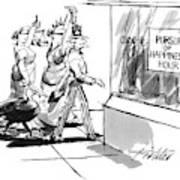 New Yorker November 28th, 1994 Art Print by Mischa Richter