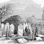 Newark Cemetery, 1876 Art Print