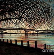Newburgh Beacon Bridge Sunset Art Print by Janine Riley