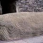 Newgrange Entrance Kerb Art Print