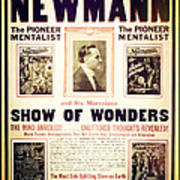 Newmann And His Show Of Wonders  Art Print