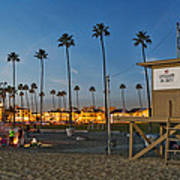 Newport Beach At Dusk Art Print by Kelley King