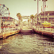 Newport Beach Balboa Island Ferry Dock Photo Art Print by Paul Velgos