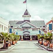 Newport Beach Balboa Main Street Vintage Picture Art Print
