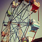 Newport Beach Ferris Wheel In Balboa Fun Zone Photo Print by Paul Velgos