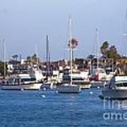 Newport Beach Harbor Art Print