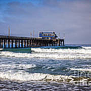 Newport Beach Pier In Orange County California Art Print by Paul Velgos