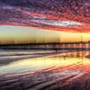 Newport Beach Pier Sunset Art Print