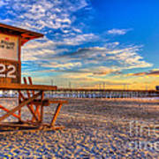 Newport Beach Pier - Wintertime  Art Print