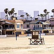 Newport Beach Skyline And Waterfront Luxury Homes Art Print