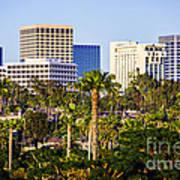 Newport Beach Skyline Picture Art Print