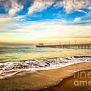 Newport Pier Photo In Newport Beach California Art Print by Paul Velgos