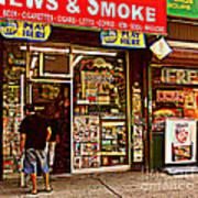 News And Smoke - Play Here Art Print