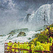 American Falls Niagara Cave Of The Winds Art Print