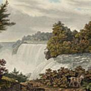 Niagara Falls Circa 1829 Print by Aged Pixel