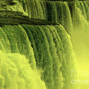 Niagara Falls Closeup Hot Wax Effect Art Print
