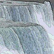 Niagara Falls Contour Drawing Effect Art Print