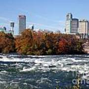Niagara Falls Skyline From New York Art Print
