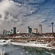 Niagara Falls The City 4534 Art Print
