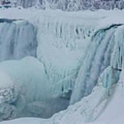 Niagara Falls Usa In Winter Art Print