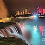 Niagara Starbust Skyline Panorama Art Print