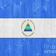 Nicaragua Flag Art Print