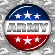 Nice Army Shield 2 Art Print