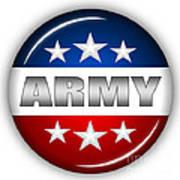 Nice Army Shield Print by Pamela Johnson