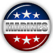 Nice Marines Shield Art Print