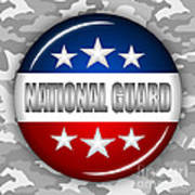 Nice National Guard Shield 2 Print by Pamela Johnson