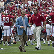 Nick Saban And The Tide Art Print by Mountain Dreams