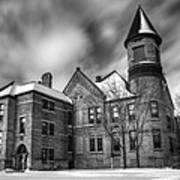 Nicolet School In Black And White Art Print